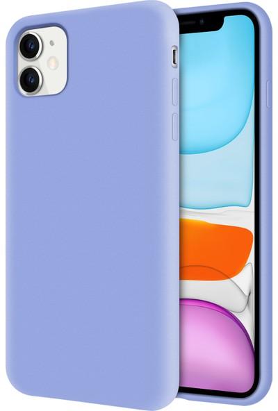 Sepetzy Apple iPhone 11 Kılıf Candy Pastel İçi Kadife Flat Kapak - Açık Mavi
