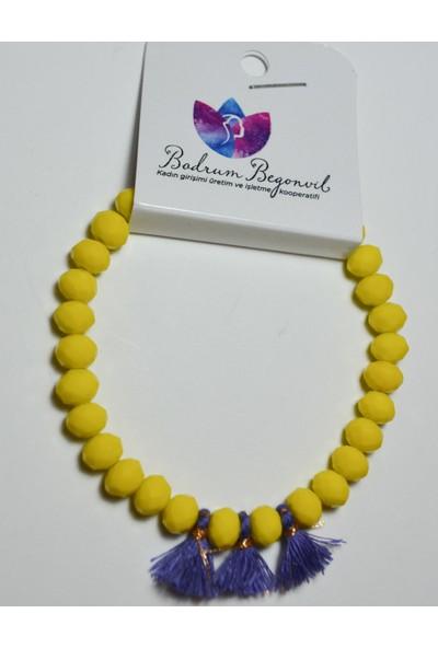 Begonvil Bdrm Begonvil Krsital Sarı Bileklik