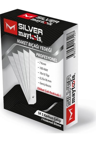 Silver Maytools Maket Bıçağı Yedeği 0.35 x 18 mm 100'LÜ