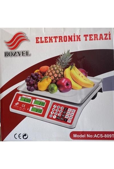Bozyel Elektronik Krom Kefeli Terazi 40 kg