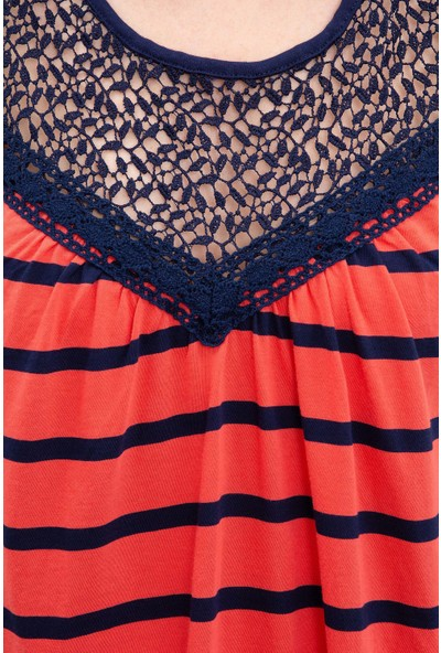 U.S. Polo Assn. Kadın Lacivert T-Shirt 50202623-Vr033
