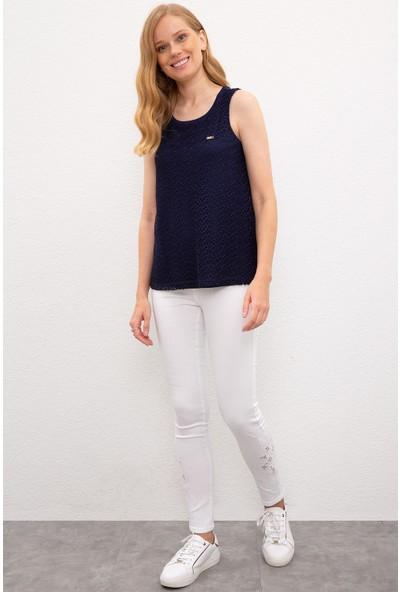U.S. Polo Assn. Kadın Lacivert T-Shirt 50218034-Vr033