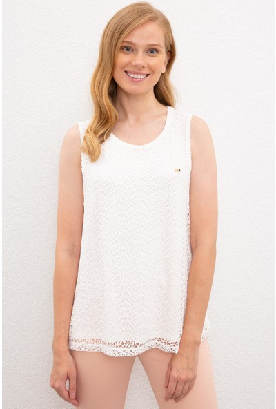 U.S. Polo Assn. Kadın Beyaz T-Shirt 50218034-Vr184