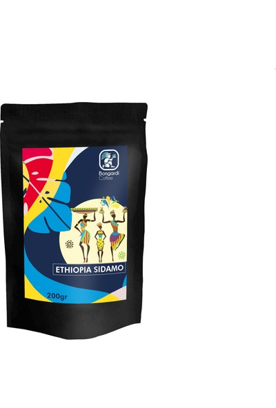 Bongardi Coffee Etiyopya Sidamo Yöresel Filtre Kahve 2 x 200 gr Öğütülmüş