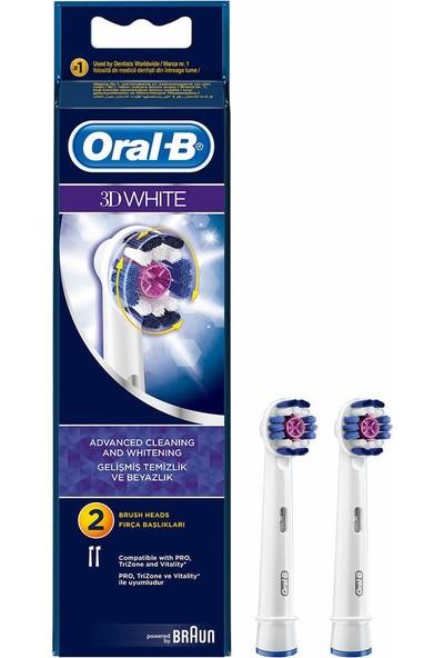 Oral-B 3D White Şarjlı Yedek Fırça Başlığı 2 Adet