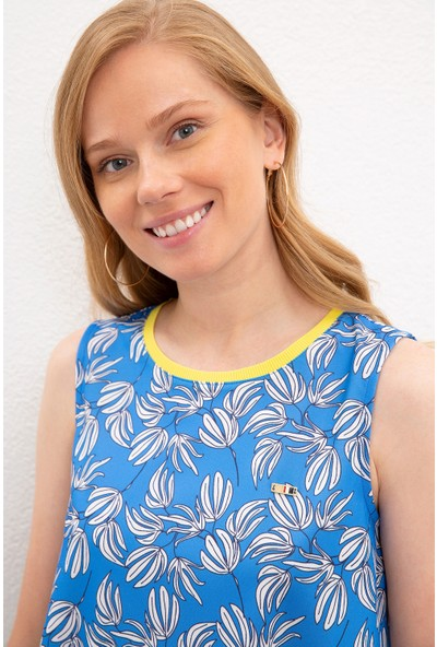 U.S. Polo Assn. Kadın Mavi T-Shirt 50218053-Vr077