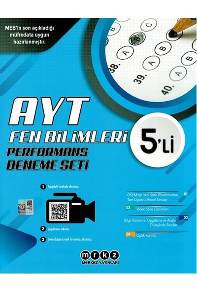 Merkez Yayınları Ayt Fen Bilimleri Özel 5 Li Performans Deneme Seti