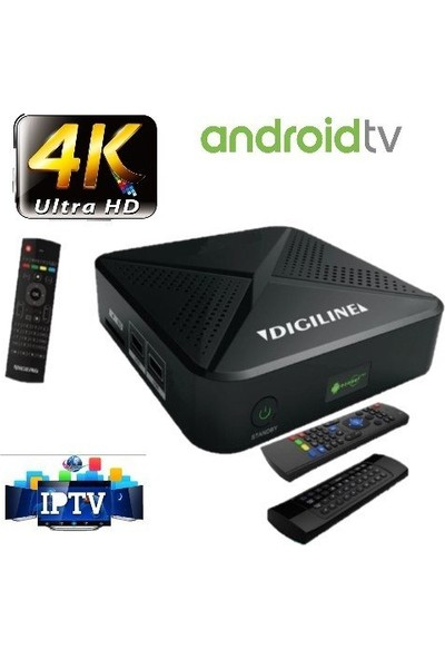 Digiline Crown Android Uydu Alıcı Tv Box Wifi 4K Ultra HD