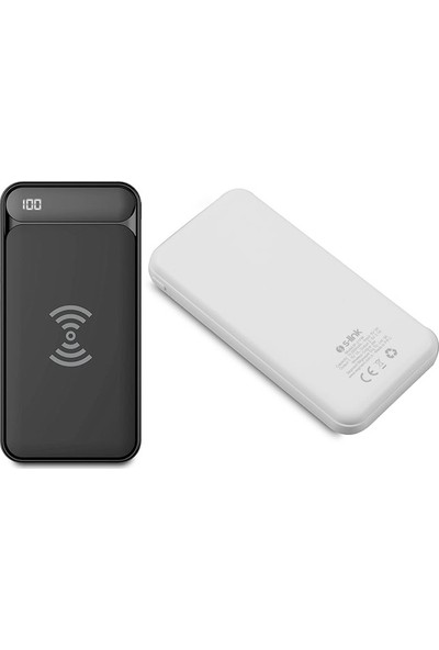 S-Link IP-217W 10000 mAh Powerbank 2 Usb Port Siyah Kablosuz Taşınabilir Pil Şarj Cihazı