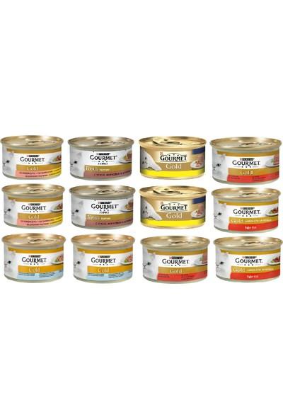 Gourmet Gold Proplan Gourmet Gold Karışık Kedi Konserve 12 Adet