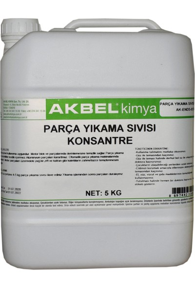 Akbel Parça Yıkama Sıvısı Konsantre 5 kg