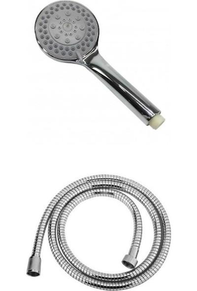 NRC 4 Fonksiyonlu Duş Başlığı + 1,5 m Spiralli Hortum Set
