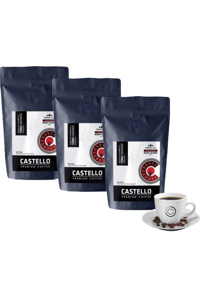 Castello Türk Kahvesi Paketi 750 Gr Single Origin