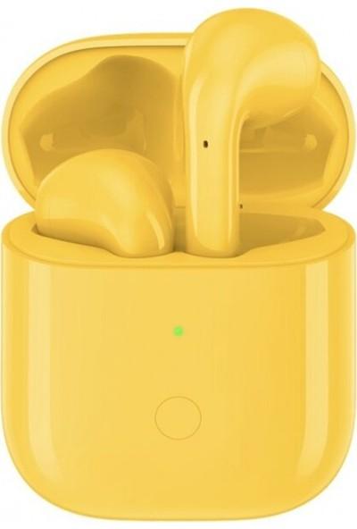 Oppo Realme Buds Air TWS Kablosuz Şarjlı Bluetooth Kulaklık -Sarı