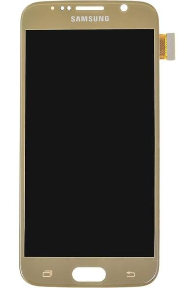 Parça Bankası Samsung Galaxy S6 G920 LCD Ekran Dokunmatik OLED Gold