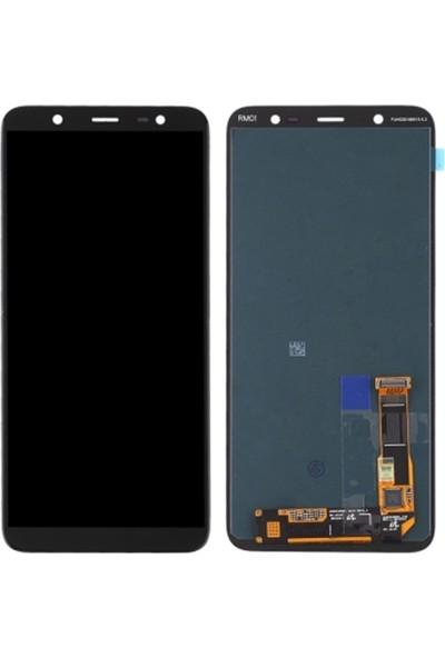 Parça Bankası Samsung Galaxy J8 J810 LCD Ekran Dokunmatik OLED Çıtasız Siyah
