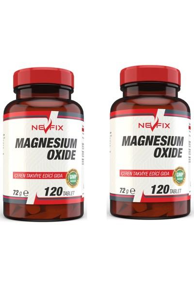 Nevfix Magnesium Oxide Magnezyum 250 mg 120 Tablet x 2 Kutu