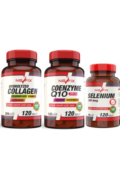 Collagen 1000 mg Coenzyme 200 mg Selenyum 200 Mcg