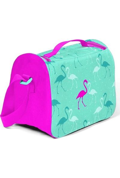 Coral High Flamingo Desenli Termos Özellikli Beslenme Çantası Pembe - Yeşil