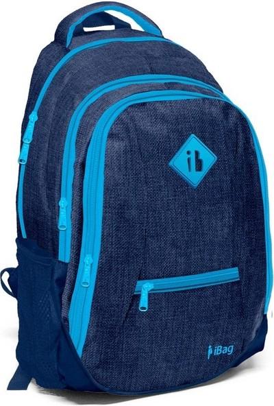 iBag 14311 Dört Gözlü Lacivert Mavi Okul Sırt Çantası