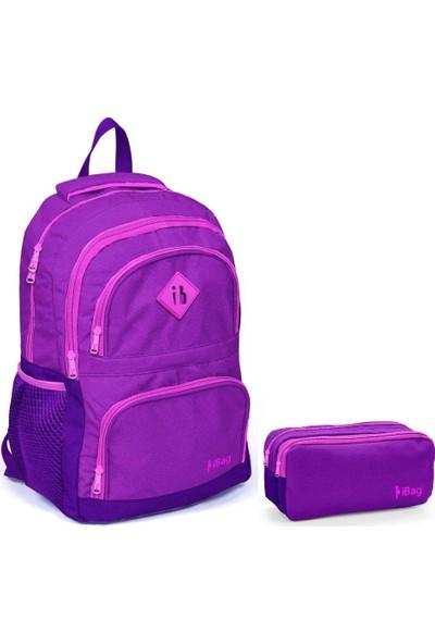 iBag Kız Çocuk Ortaokul lise kolej Okul Çanta Seti 14355