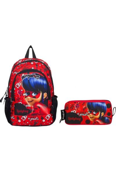 Miraculous Lady Bug Kırmızı Anaokulu Çanta Seti