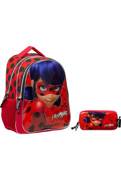 Miraculous Ladybug Okul Çantası ve Kalemlik Seti Kız Çocuk