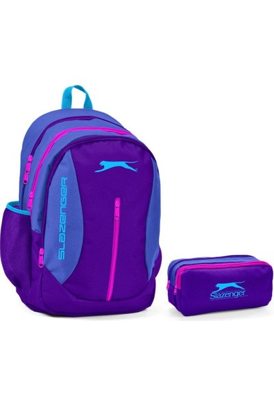 Slazenger Mor Kız Ortaokul lise Okul Çanta Seti