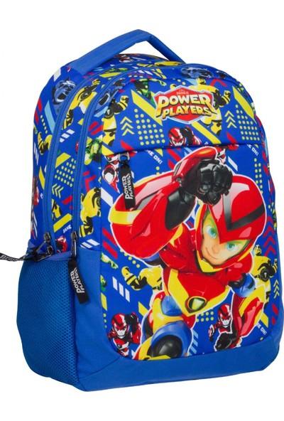 Ümit Çanta Power Players Üç Gözlü Erkek Çocuk Okul Çantası Mavi