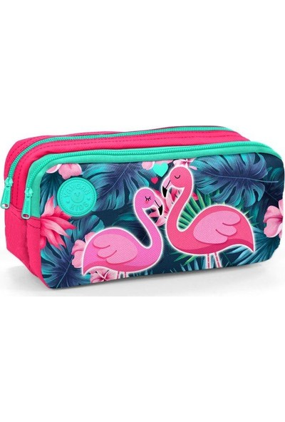 Yaygan Kids Flamingo Pembe Yeşil Kız Çocuk Kalem Çantası
