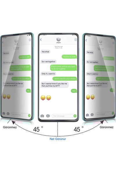 UKS Case Xiaomi Mi 8 Se Ekran Koruyucu Gizlilik Filtreli Privacy Cam