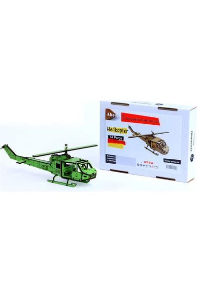 Pershang Ahşap Helikopter 3 Boyutlu Yapboz
