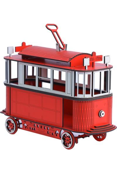 Pershang Ahşap Nostaljik Taksim Tramvay 3 Boyutlu Yapboz