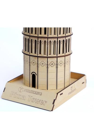 Pershang Ahşap Pizza Kulesi 3 Boyutlu Yapboz