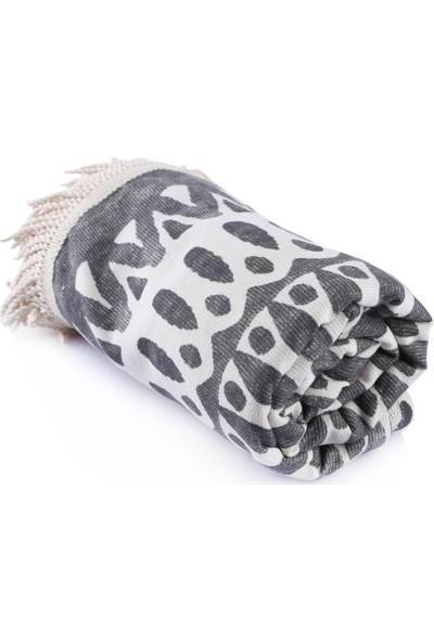 Havlu Butik Premium Etnik Desenli Baskılı Peştamal Seti