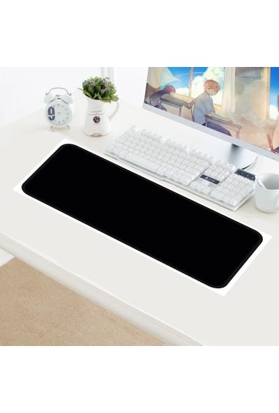 Appa SRF-888 Düz Siyah Oyuncu Mouse Pad 80 x 40 cm Kaymaz Dikişli