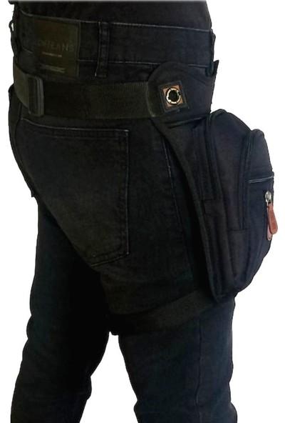 Seventeen Kanvas Kumaş Çok Gözlü Bel Bacak Omuz Göğüs Motorcu Çantası
