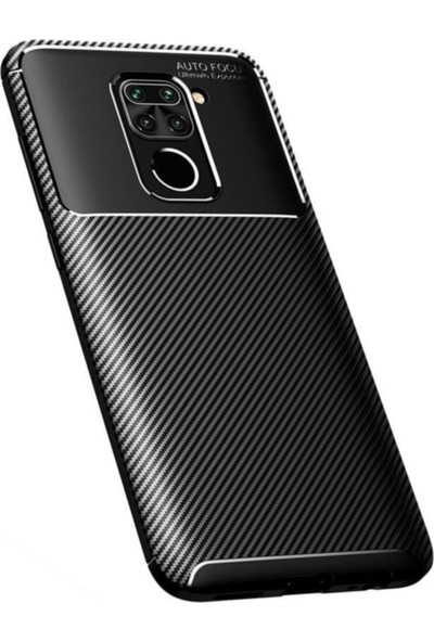 Tekno Grup Xiaomi Redmi Note 9 Kılıf Karbon Desenli Lux Negro Silikon Siyah