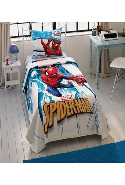 Taç Spiderman City Tek Kişilik Pike Takımı 28741