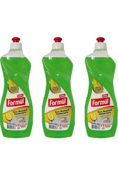 Güleç Formül Sıvı Bulaşık Deterjanı 750 ml Limon 3 Adet