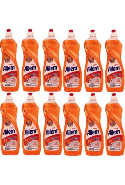 Güleç Ailem Sıvı Bulaşık Deterjanı 750 ml Portakal 12 Adet