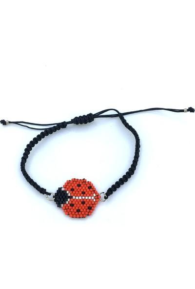 Pafuli El Yapımı Miyuki Bileklik Kırmızı Uğurböceği
