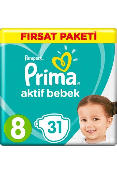 Prima Bebek Bezi Aktif Bebek 8 Beden 17+ Kg 31