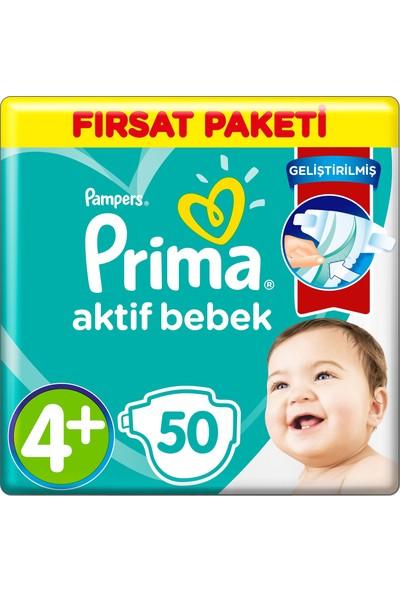 Prima 4+ Beden Bebek Bezi Fırsat Paketi 10-15 Kg 50
