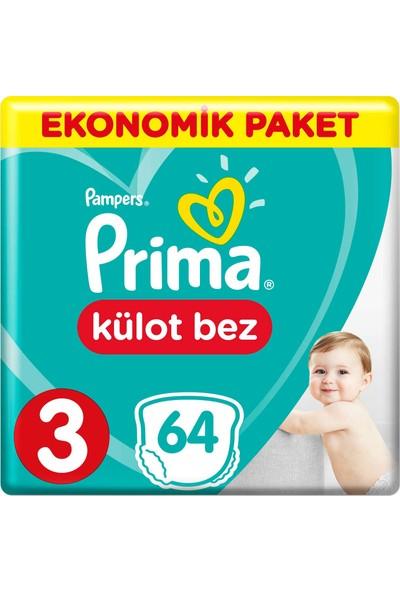 Prima Külot Bebek Bezi 3 Beden Ekonomik Paket 6-11 Kg 64