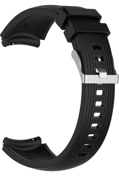 Kny Samsung Galaxy Watch 46 mm (22 mm) Çizgili Silikon Kayış-Kordon