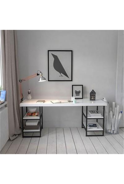 Noowa Çalışma Bilgisayar Masası Beyaz 150 x 72 x 65 cm