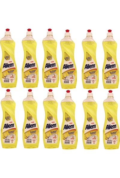 Güleç Ailem Sıvı Bulaşık Deterjanı 750 ml Limon 12 Adet