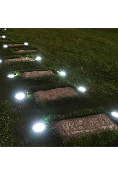 Yukka 4'lü 12-LED Gömülü Işık Zemin Lambası Çevre Dostu Güneş Enerjisi Yol Sokak Aydınlatma