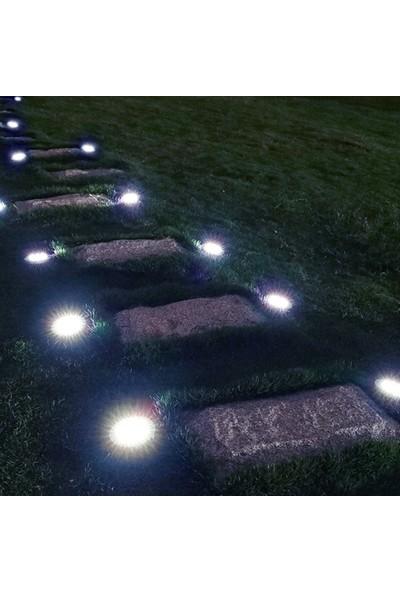 Yukka 5'li 12-LED Gömülü Işık Zemin Lambası Çevre Dostu Güneş Enerjisi Yol Sokak Aydınlatma